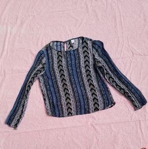 H&M Divided Vertical Stripy Floral Shirt